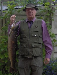 David with his Afon Lledr caught salmon.